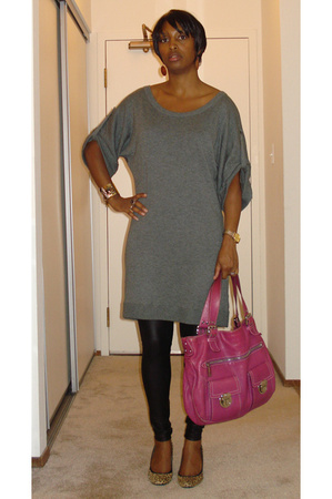 banana republic dress - American Apparel pants - BP shoes - Marc Jacobs bra