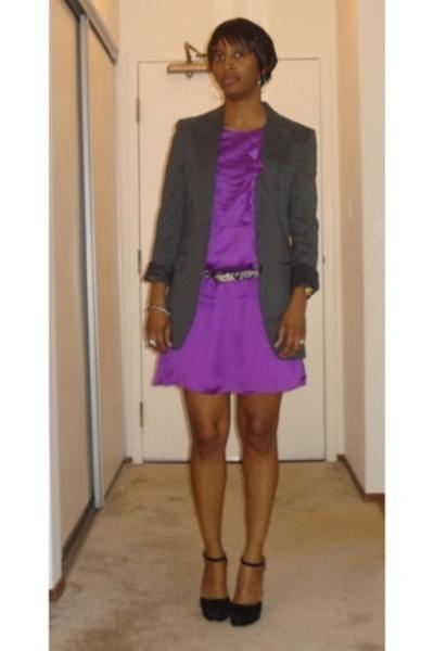 vintage blazer - Reiss dress - Prada shoes - Club Monaco belt