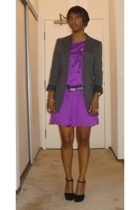 vintage blazer - Reiss dress - Prada shoes - Club Monaco belt