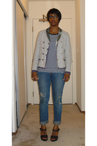 Marc Jacobs jacket - Gap t-shirt - abercrombie and fitch jeans - Old Navy shoes