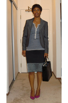 Theory blazer - Ruehl t-shirt - simply vera skirt - Nine West shoes