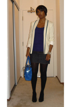 Elizabeth & James blazer - Old Navy top - deener skirt - Christian Louboutin sho