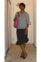 Gap top - balenciaga skirt - Hype shoes - Marc Jacobs purse