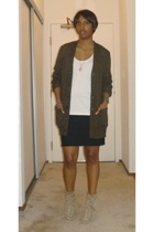 banana republic sweater - The Row t-shirt - Eryn Brinie skirt - balenciaga shoes
