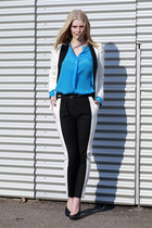H&M Trend blouse - Zara blazer - Zara heels - H&M pants