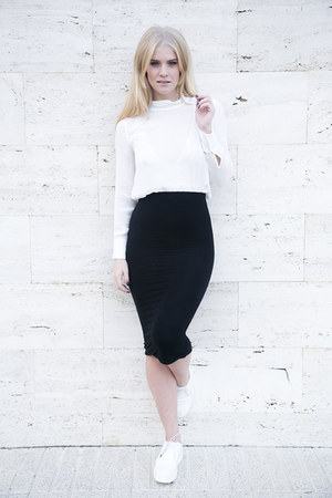 Zara blouse - Topshop skirt