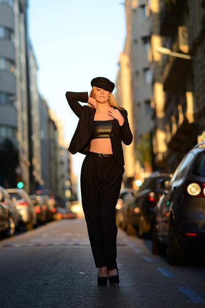 H&M blazer - Zara top - Topshop heels