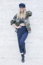 Nasty Monday jacket - H&M hat - Zara top - vintage pants