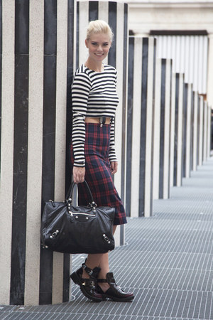 balenciaga bag - Zara skirt
