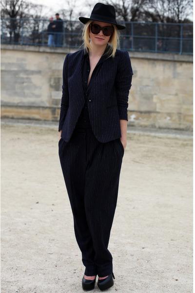 H&M hat - H&M suit - Topshop heels