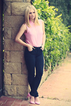Monki jeans - Zara blouse - Stradivarius heels