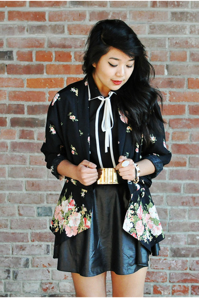 floral vintage blazer blazer - chiffon Pink Manila top