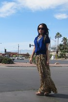 brown Electric sunglasses - tan leopard volcom skirt