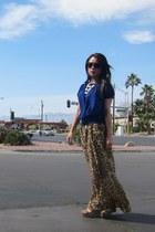 brown Electric sunglasses - tan leopard volcom skirt