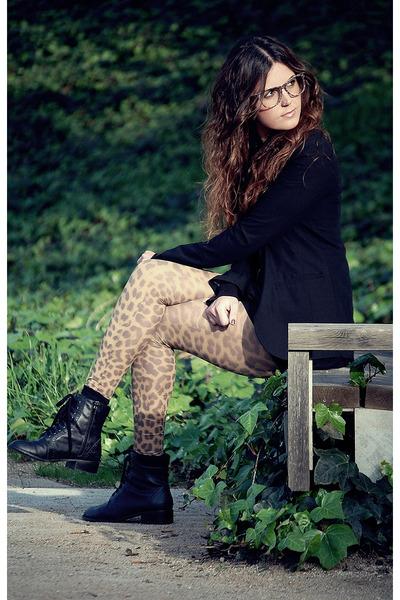 H&M dress - f21 boots - proopticals glasses