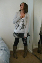 A Gift top - Gap jacket - Urban Outfitters skirt - Urban Outfitters leggings - t