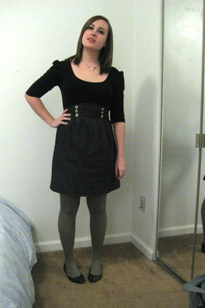 black Target earrings - gray Steve Madden tights - black 579 shoes - silver Fore