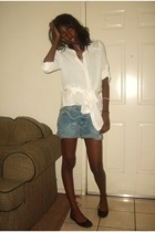 forever 21 blouse - shorts