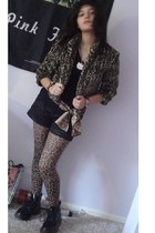 doc martens shoes - macys material girl coat - cynthia rowley scarf - shorts