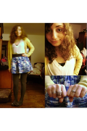 Target t-shirt - hollister skirt - Old Navy cardigan - H&M tights - Sears shoes