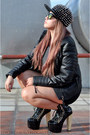 Black-studded-das-boots-black-leather-biker-mango-jacket