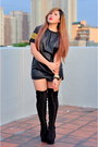 Black-suede-das-boots-black-leather-zara-shorts