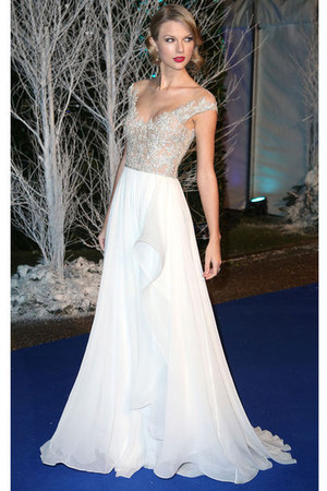 white Reem Acra dress
