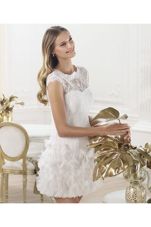 white Pronovias dress