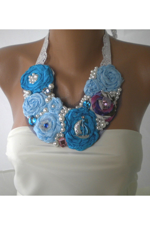 blue handmade accessories