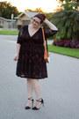 Black-lace-dress-kiyonna-dress-burnt-orange-fox-bag-indie-darling-shop-bag