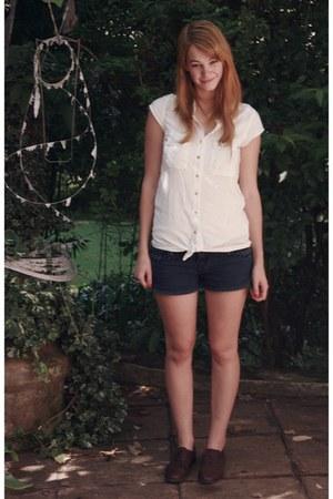 RT shoes - denim RT shorts - RT blouse
