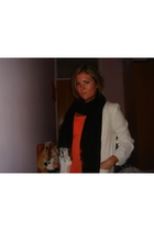 new look blazer - scarf - vera moda t-shirt