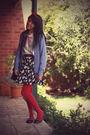 Blue-vintage-cardigan-vintage-skirt-vintage-shirt-forever-21-necklace-vo