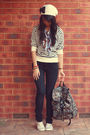 black Forever 21 jeans - Cotton On Body - forever 21 & DIY by me - Rubi shoes -