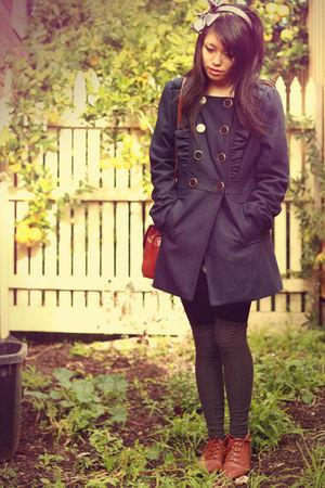 vintage shoes - Sunnygirl coat - Sportsgirl socks