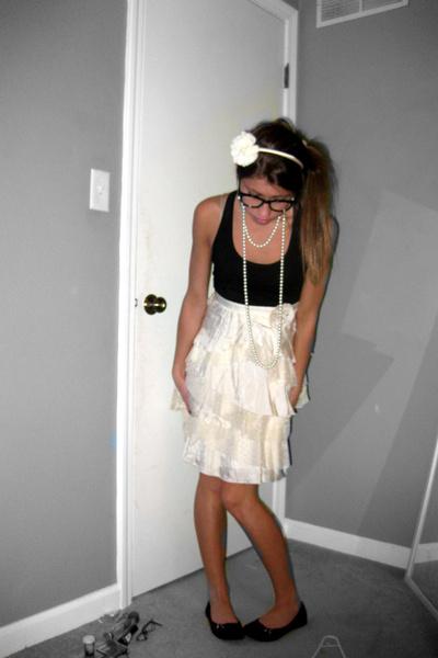 beige Forever21 dress - black Target shoes - Target necklace - Forever21 accesso