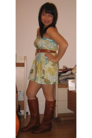 speechless dress - belt - Bakers boots