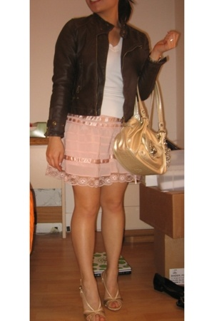 Zara Kids jacket - H&M skirt - forever 21 sweater - BCBGirls shoes - Kathy von Z
