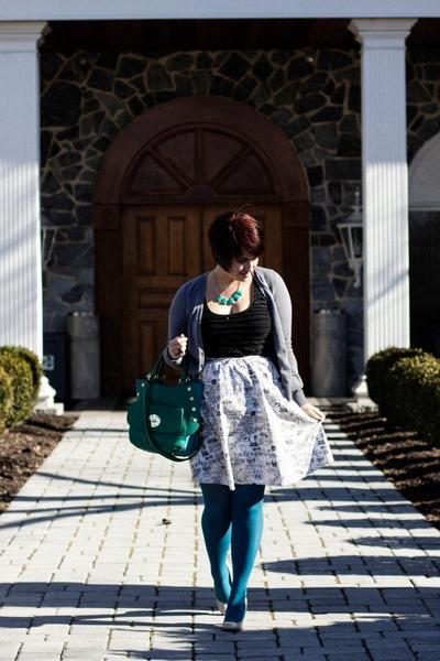 cream map print skirt modcloth skirt - black free people dress