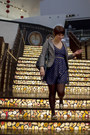 Navy-anthropologie-dress-heather-gray-loft-blazer-dark-brown-target-tights