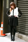 White-romeo-and-juliet-blouse-black-dorothy-perkins-skirt