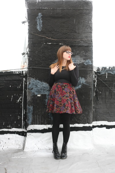 pink thrifted from Crossroads dress - black Forever 21 top