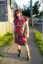 dress - shoes - Fake Chanel purse - glasses