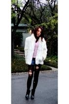 forever 21 shorts - vintage jacket - BCBG shoes