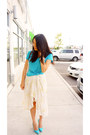 Aquamarine-manolo-blahnik-shoes-cream-h-m-skirt-aquamarine-forever-21-top