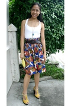 top - necklace - Willow belt - Vittorio skirt - Gap purse - Juan shoes