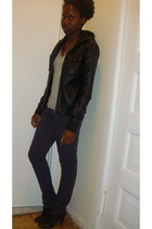 black Deena & Ozzy boots - gray H&M jeans - black Urban Outfitters jacket