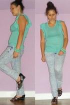 Yes-no jeans - Zara shirt - DIY bracelet