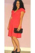 red F&F dress