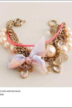 pink JCrew bracelet